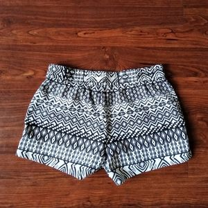 J. Crew aztec print black and white shorts size 2
